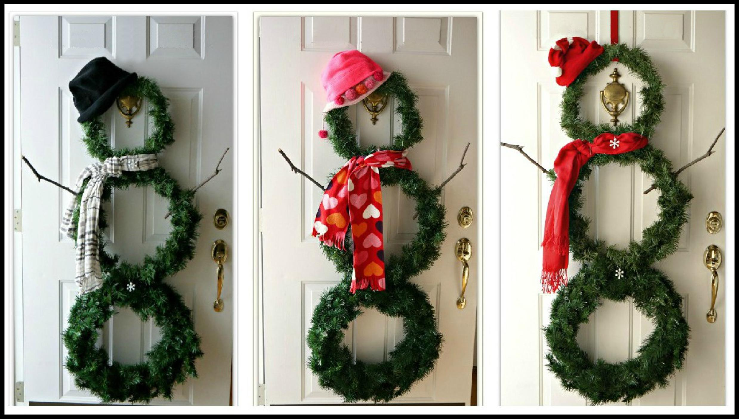 Do it yourself 10 ideas for new year decorations rojal vase for 3 wreath door decoration
